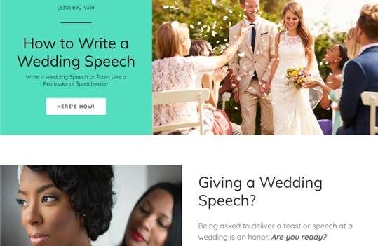Learn how to write a wedding speech